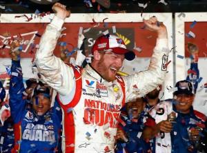 Dale Earnhardt Jr wins