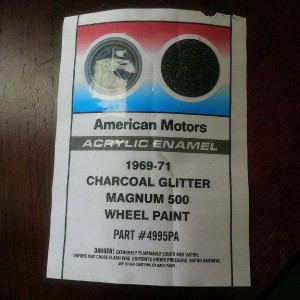 Original Label for Charcoal Glitter Magnum 500 Wheel Paint